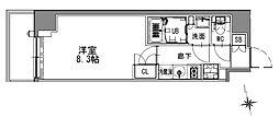 つくばエクスプレス 浅草駅 徒歩16分の賃貸マンション 8階1Kの間取り