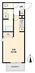 ライブカーサ上野 3階ワンルームの間取り