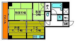 ライオンズマンション鶯谷第3[805号室号室]の間取り