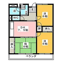 ヒルズ三ツ池 A棟[3階]の間取り