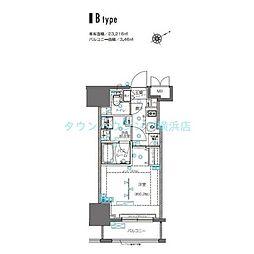ZOOM横浜桜木町(ズームヨコハマサクラギチョウ) 6階1Kの間取り