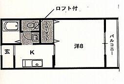 西村ビル[205号室号室]の間取り