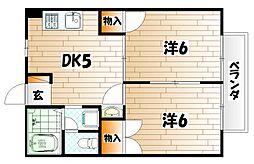 ニューシティ京都[2階]の間取り