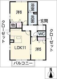 エーデルハイムII[2階]の間取り