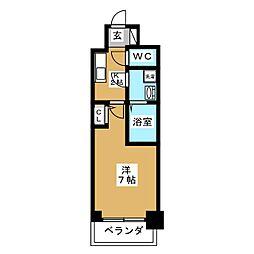 愛知県名古屋市中区千代田3の賃貸マンションの間取り