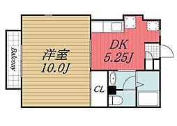 Prime Court Mitsui[1階]の間取り