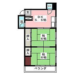 水野マンション[2階]の間取り