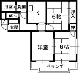 メゾン一番館[2階]の間取り