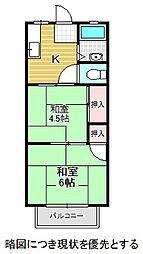愛知県名古屋市千種区本山町の賃貸アパートの間取り