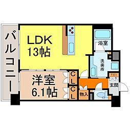 グラン・アベニュー名駅(メイエキ)[6階]の間取り