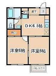 フローラK[1階]の間取り