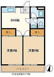 山口マンション 205[2階]の間取り