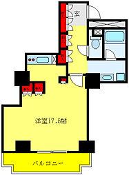 都営三田線 千石駅 徒歩4分の賃貸マンション 14階ワンルームの間取り