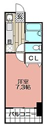 サングリーン藤崎[203号室]の間取り