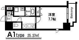 アーバンパーク梅田イースト 12階1Kの間取り