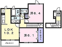 ライラック グレース[2階]の間取り