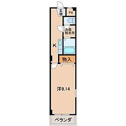 アメニティハイツ[4階]の間取り
