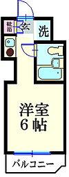 スカイコート横浜白楽B号棟[203号室]の間取り