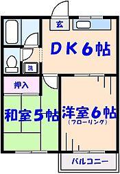 ライトコート田島[202号室]の間取り