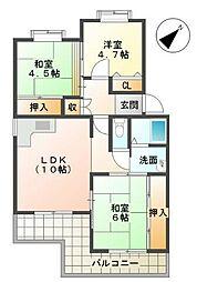シティハイツ竹の台[2階]の間取り