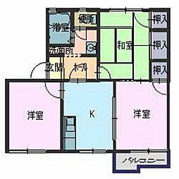 タウニィ田寺[2階]の間取り