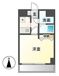 愛知県名古屋市中川区西日置1の賃貸マンションの間取り