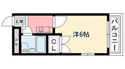 兵庫県西宮市甲東園2丁目の賃貸マンションの間取り