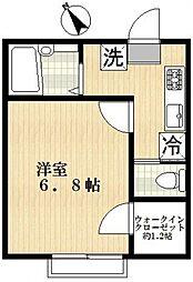 プラティーク[1階]の間取り