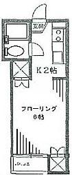 東京都世田谷区代田4丁目の賃貸アパートの間取り