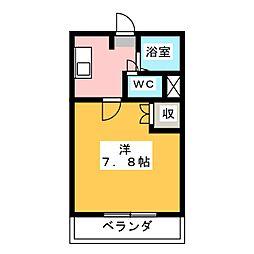 コーポラスヘルシーII[1階]の間取り