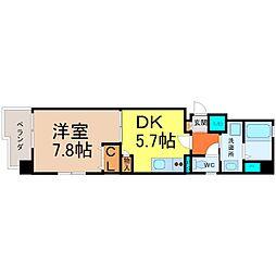 ラ・フォンテーヌ大須[5階]の間取り