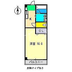 秋櫻館[1階]の間取り
