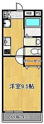 SAKASU HIROO[208号室]の間取り