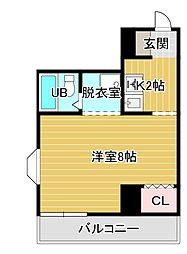 フジヤステーションコート浜松[8階]の間取り