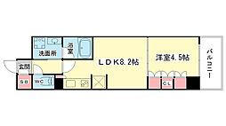 大阪府大阪市中央区南船場3丁目の賃貸マンションの間取り