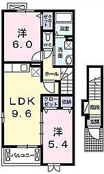 フラン メゾン II[   2階号室]の間取り