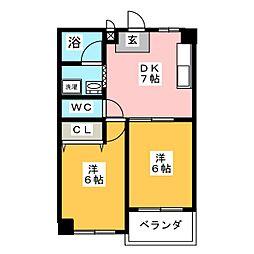 レヂデンス鈴木 A[2階]の間取り