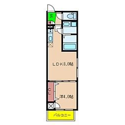 Fmaison verdeII[202号室号室]の間取り