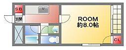 大阪府大阪市西成区松3丁目の賃貸マンションの間取り