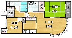 アズステーション原田[3階]の間取り
