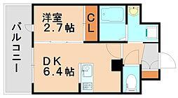 アンピールメゾン春日原駅前[7階]の間取り