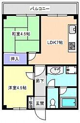 日商岩井牛田マンション[3階]の間取り