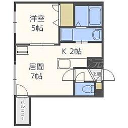 インセンス札幌北11条[4階]の間取り