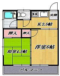 第二名古屋ハウス[206号室号室]の間取り