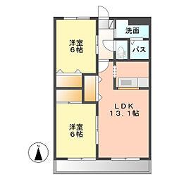 コンフォース II[2階]の間取り