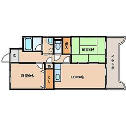 ルネッサンス宮ノ尾II[6階]の間取り
