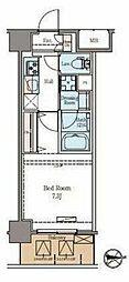 東京メトロ日比谷線 仲御徒町駅 徒歩6分の賃貸マンション 7階1Kの間取り