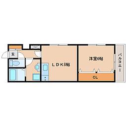 兵庫県尼崎市西難波町3丁目の賃貸アパートの間取り