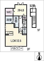 D−room西別所[2階]の間取り