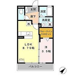 ホワイトガーデン[2階]の間取り